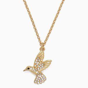 NEW Kate Spade Hummingbird Mini Pendant Necklace